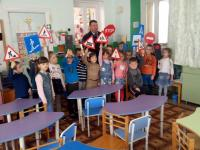 Инспектор ГИБДД в гостях у дошкольников!