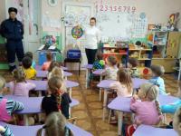 Инспектор ГИБДД в гостях у дошкольников.