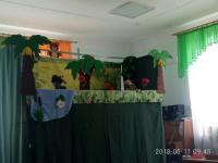 Детям детского сада была представлена музыкальная  постановка « Жил был Слон» театра кукол «Зазеркалье»