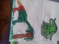 """Рисуем динозавров. занятие по рисованию группа """"Почемучки"""""""